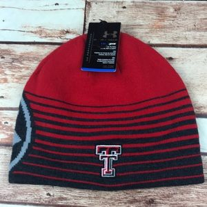 Texas Tech Black Red Knit Reversible Stocking Cap